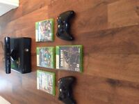 Xbox 360 connect, controller and games