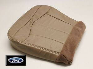 1999-Ford-F-150-Lariat-Extended-Cab-Driver-Side-Bottom-Leather-Seat-Cover-TAN