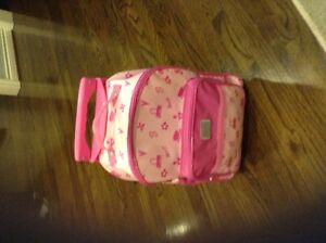 LIKE NEW USED ONCE BARBIE CARRY ON BAG FOR KIDS