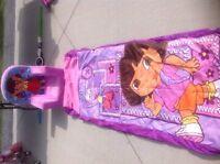 Dora chair and sleeping bag
