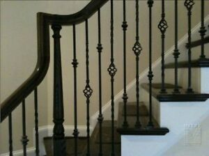 RED OAK STEPS MAPLE STEPS STAIR TREADS SPINDLES IRON ROD NEWEL P