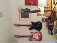 Fender stratocaster and telecasters