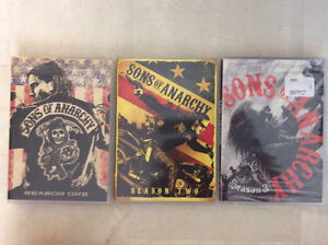 Sons of anarchy season one, two, and three for $30 London Ontario image 1