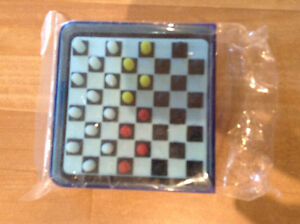 NEW TRAVEL CHECKERS GAME IN PLASTIC