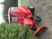 Gravely Tractor with Snow Plow and Cover