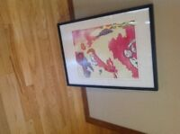 Number and signed print titled Heavy Boots