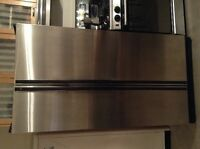 "GE Profile stainless steel 36"" side by side"