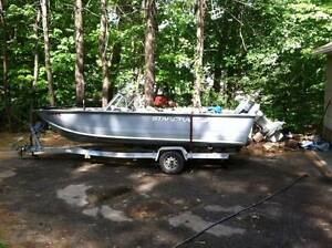 18ft Aluminum boat - similar to picture