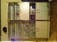 2 Display Cabinets with Glass doors with Coffee Table