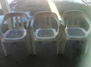 Patio Chairs, Set of 3