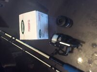 Fishing rood and 2 spinning wheals  brand new never used