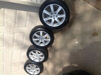 tires and rims for an Acura TSX 215/50. ZR 17
