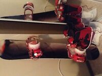 Technine snowboard,bindings, and boots