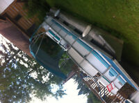 """ponton 20 pieds moteur 20hp toit quille 24"""""""