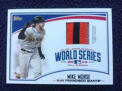 0c71f32abe29 MIKE MORSE TOPPS 2015 WORLD SERIES CHAMPIONS GAME USED JERSEY CARD GIANTS