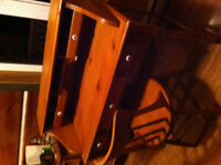 wood desk and chair