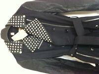 Authentic Brand New Burberry Studded Trench with Leather Sleeves