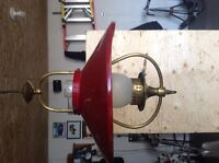 Antique Electric retractable hanging light