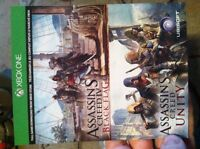 Assassins Creed Unity and Black Flag download codes Xbox One