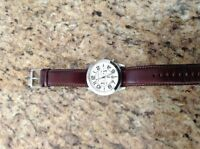 Near mint authentic Michael Kors men's leather band watch