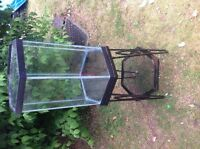 17 gal fish tank with stand