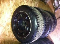 195/60R15 tires on 5 bolt alumium rims x4