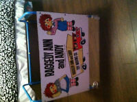 VINTAGE raggedy ann and andy toy moving company TOY CArT