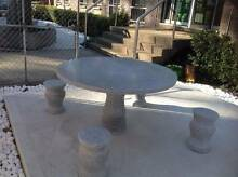 GRANITE STONE 5 PIECE OUTDOOR SETTING Villawood Bankstown Area Preview