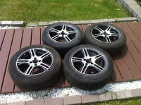 "15"" summer tires on alloy rims"