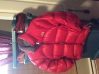 Manteau style doudoune - North Face summit 700 - Small rouge