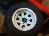 225/75/15 6 BOLT RIM TRAILER TIRE