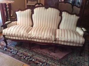 Italian sofa and two chairs made in Naples, Italy