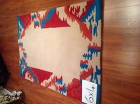 Two Stunning New Zealand Wool Hand Tufted Area Rugs Carpets