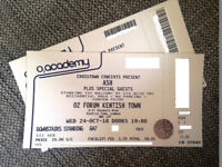 Ash Music Tickets (2 x Tickets) at O2 Forum Kentish Town, London. Wednesday, 24 Oct 2018