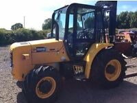 JCB 926 TURBO 4WD ROUGH TERRAIN FORKLIFT 2008 no vat