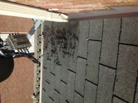 A roof repair and Gutter Guards installation