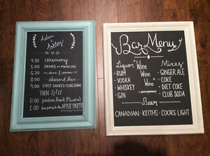 Wedding signs and displays