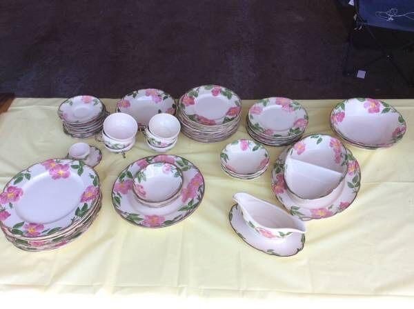 Franciscan California Desert Rose Dishes- 86 pieces