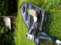 14 foot Aluminum Boat with Yamaha 9.9 excellent condition