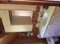 Vanité pour salle de bain,mirroir et armoire