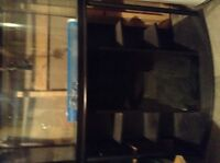 Fish tank & matching stand Black in Color