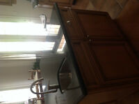 Entire Maple Glazed kitchen Island - granite/sink/faucet include