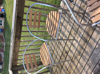 Patio table and 4 chairs set