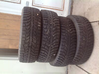 Champion Ice-Pro SUV tires.  Radial tubeless. 215/70R16