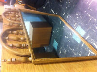 Vintage 60's Dresser and Mirror with Matching Headboard