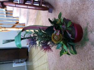 Beautiful silk flower arrangement.
