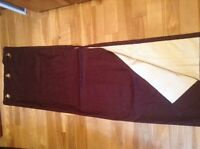 New lined curtain panel brown