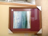 Sea scape picture in wooden frame