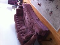 CHESTERFIELD AND MATCHING CHAIRS
