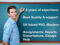 Topnotch UK based help, Assignments, Essays, Dissertations, Reports, Coursework editing help